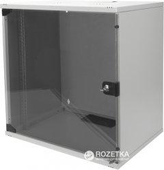 """Шкаф настенный серверный Digitus Professional SOHO 19"""" со стеклянной дверью 12U Серый (DN-1912-U-S-1)"""