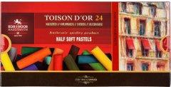 Пастель сухая мягкая Koh-i-Noor Toison D'or 1/2 (половинки) 24 цвета (8544)
