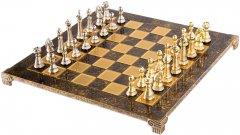 Шахматы Manopoulos 44х44 см Коричневые (S33BRO)
