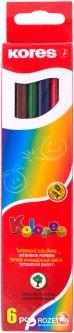Карандаши цветные Kores 6 шт (K93306)