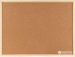 Доска пробковая Axent 90 х 120 см + 6 кнопок-гвоздиков (9603-A)