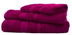 Набор махровых полотенец FaDolli Ricci 40x70, 50x90, 70x140 см Фуксия (УЗ0101_Фук)