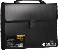 Портфель пластиковый Scholz А4 3 отделения Черный (8591662050295)
