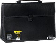 Портфель пластиковый Scholz B4 2 отделения Черный (8591662050394)