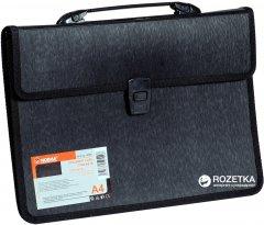 Портфель пластиковый Norma А4 2 отделения Черный (8591662505498)