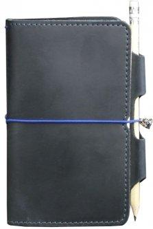 Блокнот BlankNote 3.0 Кожаный 12 х 16 см 120 листов Синий (BN-SB-3-mi-nn)