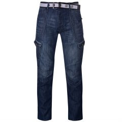 Джинси Airwalk Belted Cargo Jeans Mens 36WL Mid Wash (4939203)