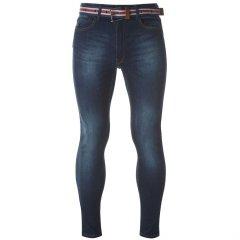Джинси Kangol Belt Skinny Jeans Mens 34WR Indigo (4936422)