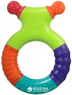 Прорезыватель для зубов Bibi с погремушкой Разноцветный (113873) (7610472855218)