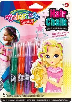 Карандаши для волос Colorino в блистере 5 стандартных оттенков (68659PTR) (5907690868659)