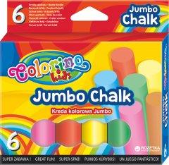 Мелки цветные Jumbo Colorino 6 мелков 6 цветов ( 65818PTR) (5907690865818)