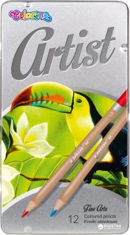 Карандаши цветные Artist Colorino 12 шт 12 цветов (83256PTR) (5907690883256)
