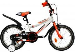 """Детский велосипед Ardis Star 16"""" 9"""" 2021 Бело-оранжевый (0437)"""