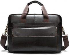 Мужская кожаная сумка-портфель Vintage leather-14750 Коричневая