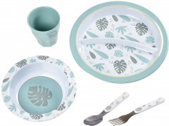Набор посуды Beaba из меламина Синий (913459) (3384349134594)