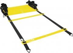 Координационная лесенка LiveUp Agility Ladder 4 м Yellow-Black (LS3671-4)