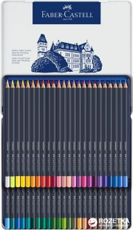 Цветные карандаши Faber-Castell Goldfaber 48 цветов в металлическом пенале (4005401147480)