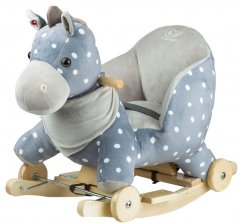 Лошадка-качалка с колесиками Kinderkraft Gray (158406)