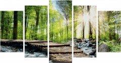 """Художественный творческий набор-полиптих Schipper """"Стремительный поток"""" 5 картин 132х72 см (9450774) (4000887947746)"""