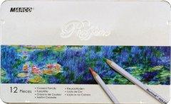 Карандаши цветные Marco Raffine 12 цветов в металлическом пенале (7100-12TN)