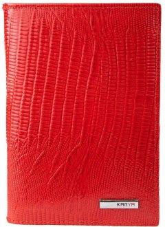 Женская кожаная обложка для паспорта и документов Karya SHI433-074 Красная (2900000132863)