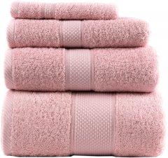 Махровое полотенце Arya Miranda Soft 50х90 см Пудра (8680943039361)