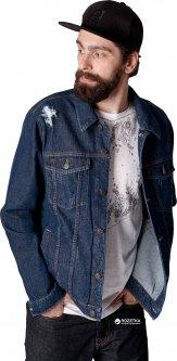 Джинсовая куртка Feel and Fly Trucker Dark Blue KDJ-0104 S Синяя (4820601111019)