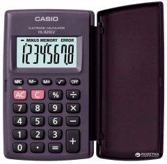 Калькулятор Casio 8 разрядный 62.5х104х10 (HL-820LV-BK-S-GP)