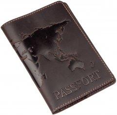 Обложка для паспорта кожаная Shvigel 13954 Коричневая