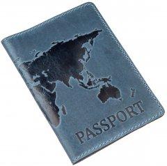 Обложка для паспорта кожаная Shvigel 13956 Синяя