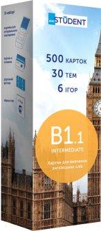 Карточки для изучения английского языка English Student В1.1 Intermediate 500 шт (9789669764768)