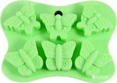 Форма для шоколада и льда Fissman Бабочки 6 ячеек 14 х 10.5 х 2 см (6558)