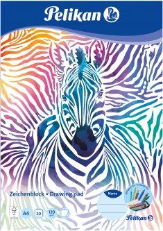 Альбом для рисования Pelikan A4 20 листов 120 г Zebra (236782Z)