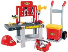 Игровой набор Ecoiffier Мастерская 4 в 1 с тележкой, инструментами и каской (2379) (3280250023791)