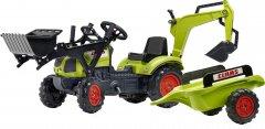 Детский трактор на педалях с прицепом передним и задним ковшом Falk 2040N CLAAS Arion (2040N) (3016202040147)