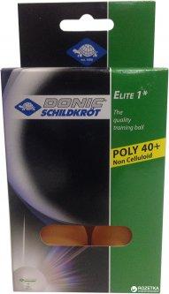 Мячи для настольного тенниса Donic Elite 1* 40+ 6 шт Оранжевые (618017-40+)