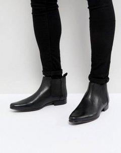 Чоловічі демісезонні шкіряні черевики челсі Asos 43,5 чорний