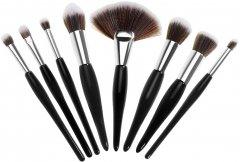 Набор кистей для макияжа Supretto 8 шт Черный (2000100049198)