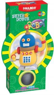 Масса для лепки Paulinda Super Dough Robot заводной механизм (шагает) Желтый (PL-081178-2)