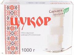 Сахар белый прессованный Саркара из сахарной свеклы быстрорастворимый в форме кубика 1 кг (4820160760226_1)