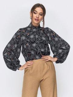Блузка Dressa 44547 размер 46-48 цвет черный