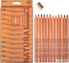 Карандаши цветные Marco Natural-Cedarlite Jumbo с точилкой 12 цветов (6400-12СВ) (6951572903203)