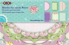 Набор заготовок для открыток ZiBi Roses 10.2 x 15.3 см (ZB.18202-AF) (4824004026653)