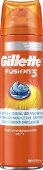 Гель для бритья Gillette Fusion 5 Ultra Sensitive & Cooling 200мл (7702018465033)