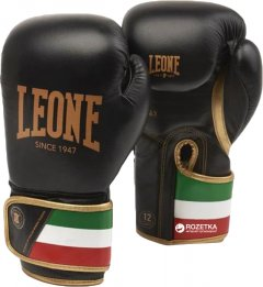 Боксерские перчатки Leone Italy Black 10 унцый (1800_500084)