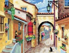 Набор для творчества Sequin Art Painting by numbers Senior A Quiet Street 38х29 см (SA0129)