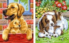Набор для творчества Sequin Art Painting by numbers Junior-Pairs Dogs 23x30 см (SA0214)