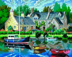 Набор для творчества Sequin Art Painting by numbers Senior Tranquil Waters 38х29 см (SA0130)