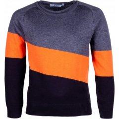 Джемпер для хлопчика сірий, оранжевий Flash 18B075-5-1111-323/403/4, Розмір 128
