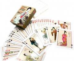 Карты игральные покерные атласные Duke Древние картины китайской живописи и фарфора 54 листа 88х63 мм (DN25203)